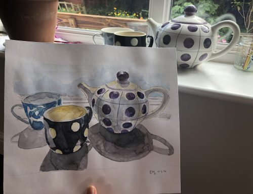 How to use your sketchbook to develop your ideas. The Teapot.