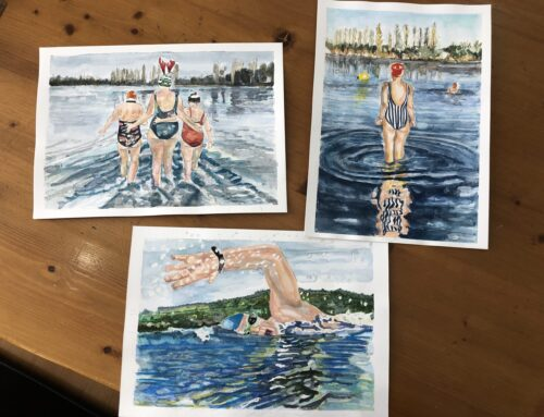 How sketching and open water swimming are linked! A new sketch series.
