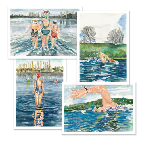 swim your swim greeting cards