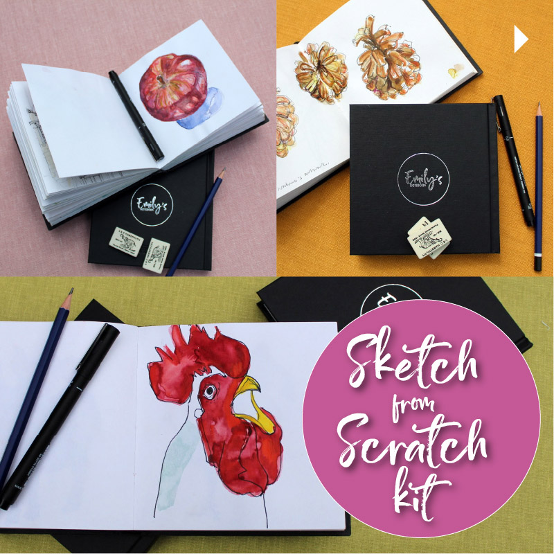 Emily's Sketch from Scratch kits