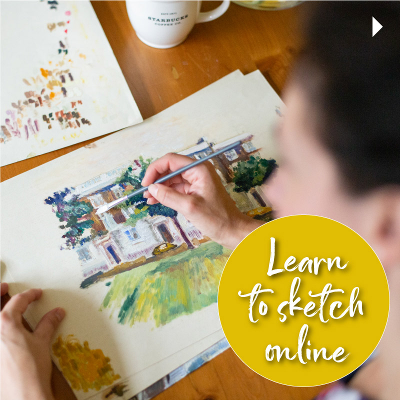 Learn to sketch online with Emily