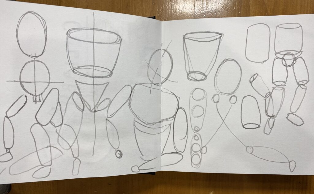 Simple shapes how to draw the human figure