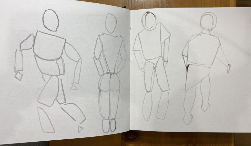 How to draw the human figure by making marks
