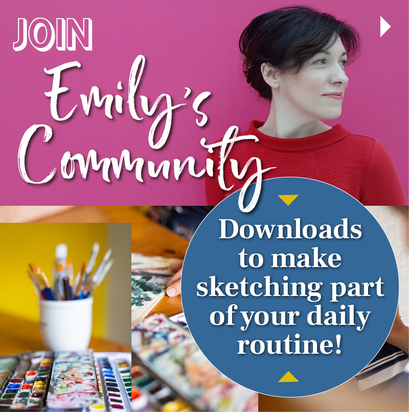 Join Emily's sketching community here